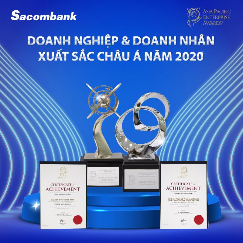 Sacombank đạt giải Doanh nghiệp, Doanh nhân xuất sắc Châu Á năm 2020 - Ảnh 2.