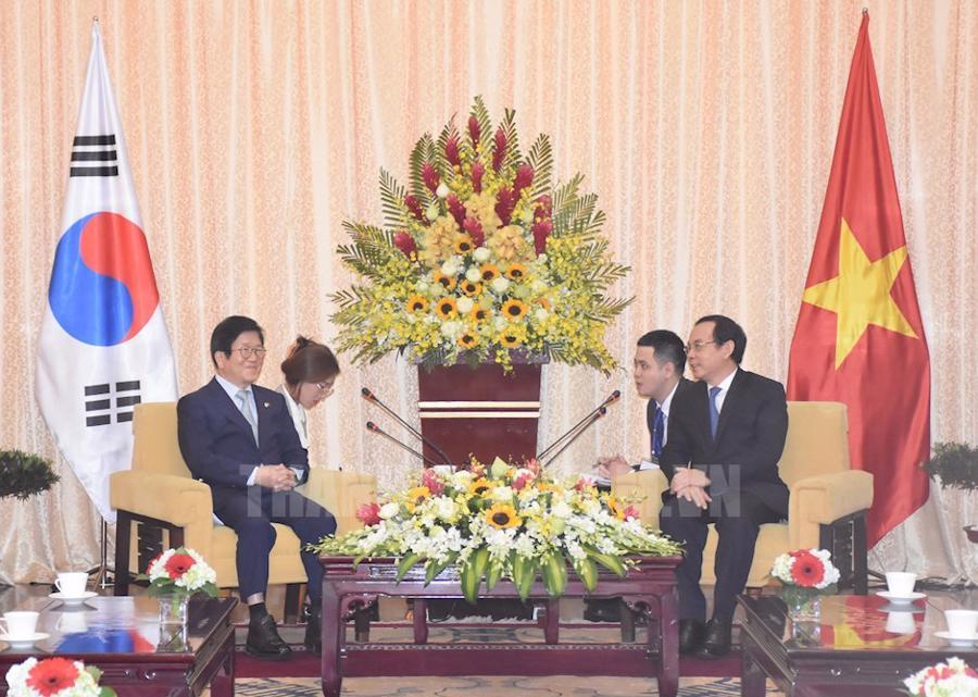Chủ tịch Quốc hội Hàn Quốc thúc đẩy hợp tác với TP.HCM - Ảnh 1.