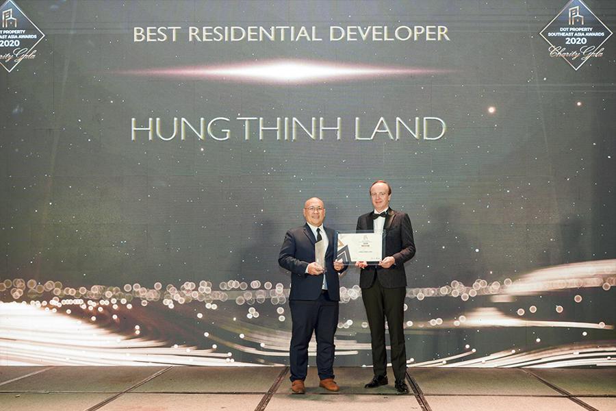 Hưng Thịnh Land nhận giải thưởng nhà phát triển Bất động sản nhà ở tốt nhất Đông Nam Á 2020 - Ảnh 1.