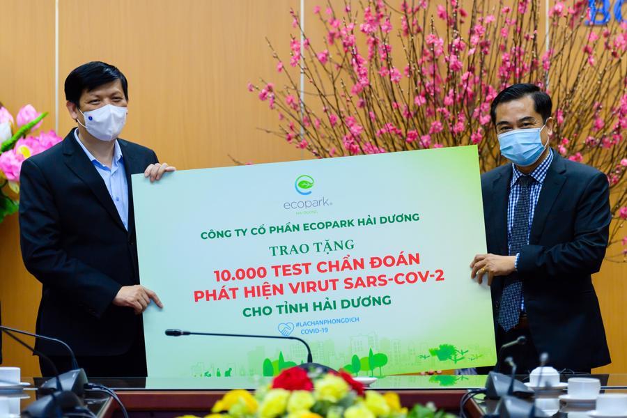 Ecopark dừng quảng cáo và sự kiện Tết để tiền ủng hộ Hải Dương chống Covid-19 - Ảnh 1.