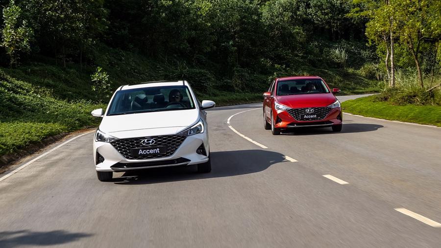 Khả năng vận hành mạnh mẽ là một ưu thế của Hyundai Accent.