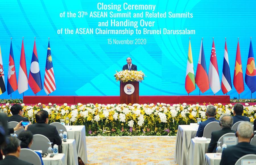 Bế mạc Hội nghị Cấp cao ASEAN 37, chuyển giao vai trò Chủ tịch ASEAN cho Brunei - Ảnh 1.