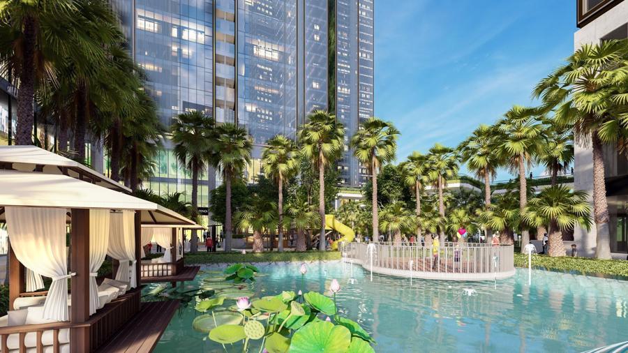 Sunshine Group triển khai tổ hợp resort trên ốc đảo, giữa hồ nhân tạo lớn bậc nhất Sài Gòn - Ảnh 1.
