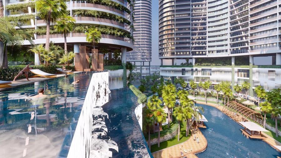 Dự án căn hộ resort tại Quận 7 đào sông trong lòng dự án, phát triển 4.000 vườn nhiệt đới trên không - Ảnh 1.