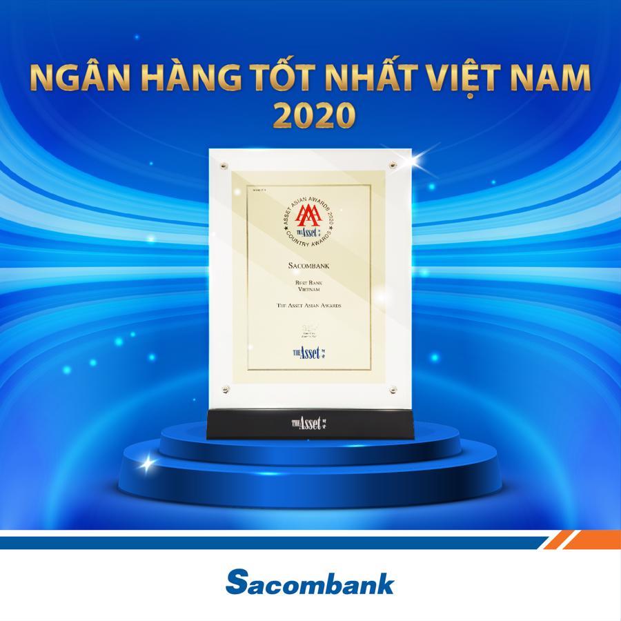 Sacombank là ngân hàng tốt nhất Việt Nam năm 2020 - Ảnh 1.