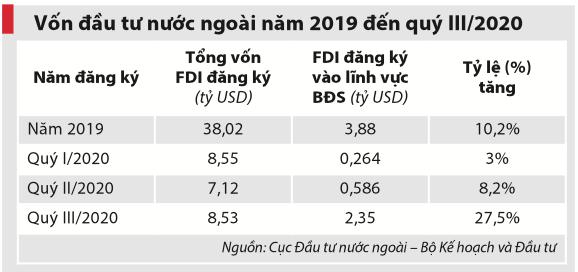Bất động sản hút vốn FDI mạnh mẽ, bất chấp đại dịch Covid-19 - Ảnh 2.