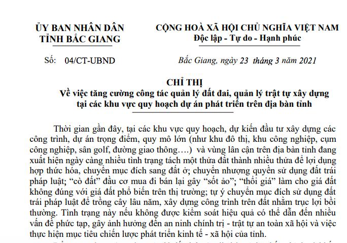 Cò thổi giá đất gây sốt ảo, Bắc Giang yêu cầu kiểm tra xử nghiêm - Ảnh 1.