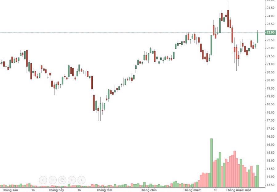 Cổ phiếu ngân hàng tăng rực rỡ, VN-Index tiến sát đỉnh 970 - Ảnh 1.