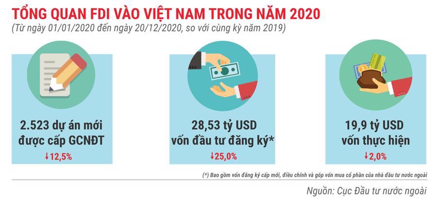 Những điểm nhấn về thu hút FDI trong năm 2020 - Ảnh 1.