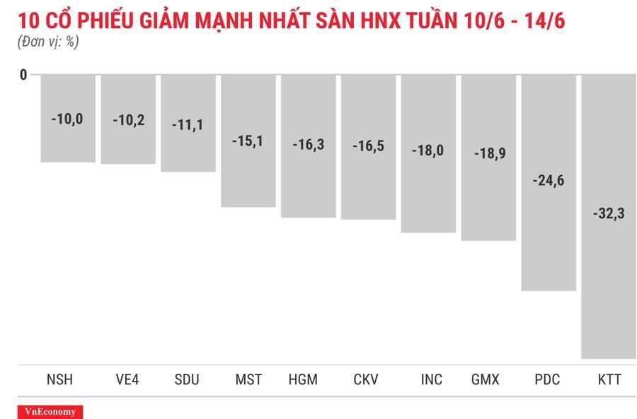 Top 10 cổ phiếu tăng/giảm mạnh nhất tuần 10-14/6 - Ảnh 8.