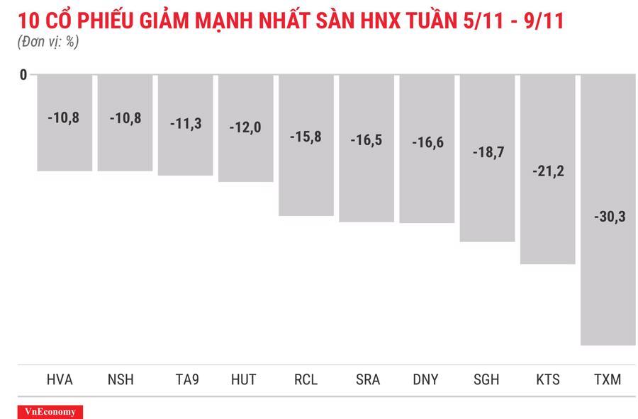 Top 10 cổ phiếu tăng/giảm mạnh nhất tuần 5-9/11 - Ảnh 8.