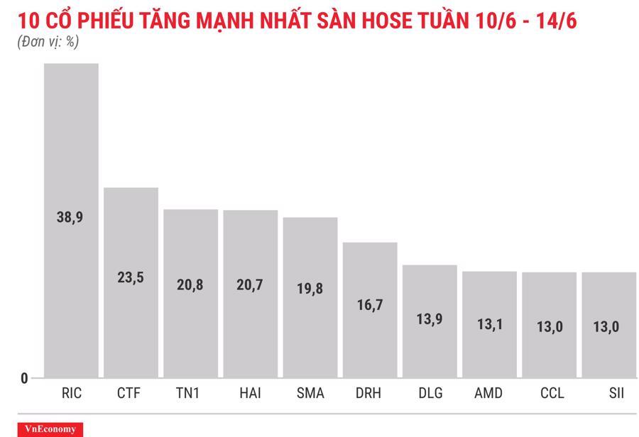 Top 10 cổ phiếu tăng/giảm mạnh nhất tuần 10-14/6 - Ảnh 3.