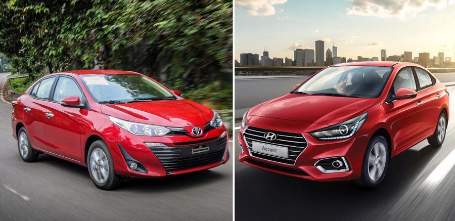 Cặp kỳ phùng địch thủ Toyota Vios và Hyundai Accent ở phân khúc xe sedan cỡ B.