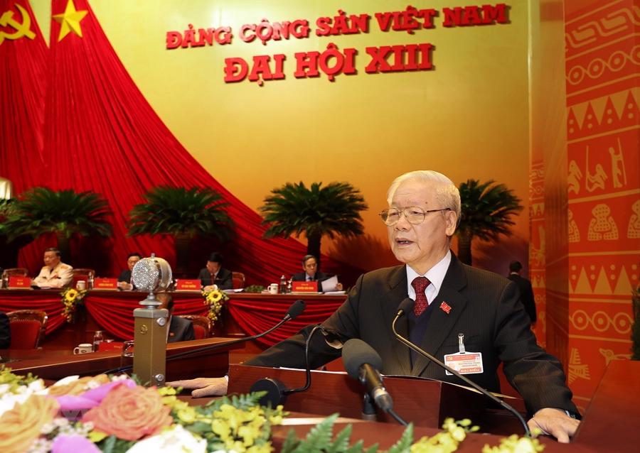 [Ảnh] Lễ khai mạc Đại hội đại biểu toàn quốc lần thứ XIII của Đảng - Ảnh 5.