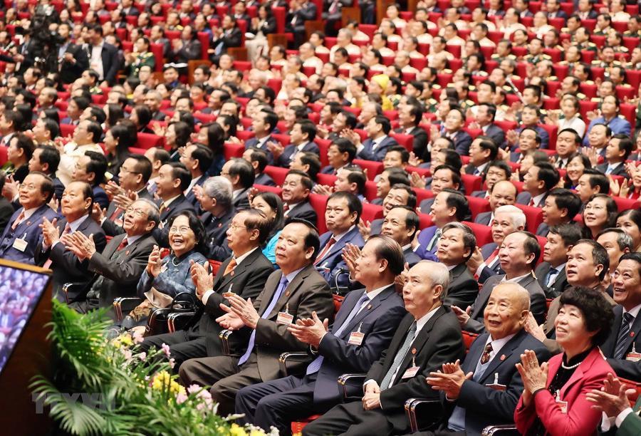 [Ảnh] Lễ khai mạc Đại hội đại biểu toàn quốc lần thứ XIII của Đảng - Ảnh 12.