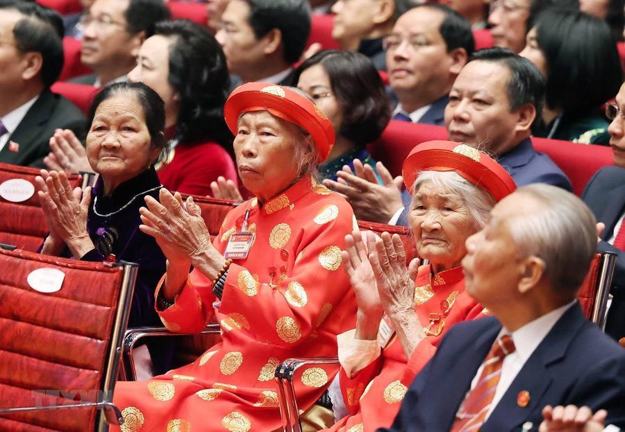 [Ảnh] Lễ khai mạc Đại hội đại biểu toàn quốc lần thứ XIII của Đảng - Ảnh 11.