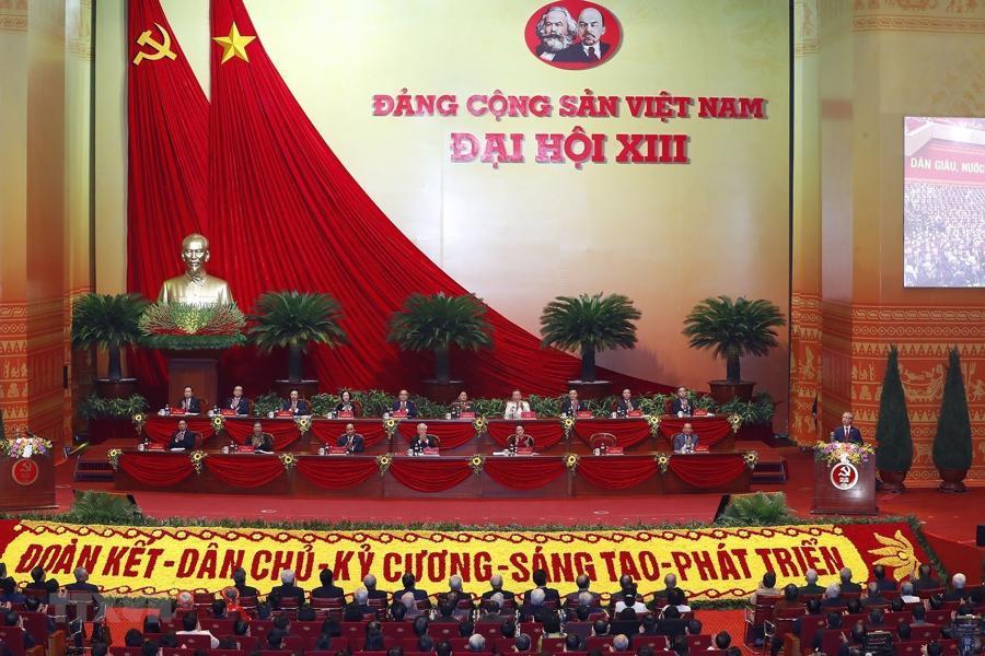 [Ảnh] Lễ khai mạc Đại hội đại biểu toàn quốc lần thứ XIII của Đảng - Ảnh 7.