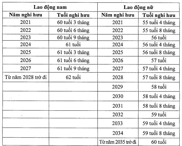 Từ năm 2021, chính thức tăng tuổi nghỉ hưu - Ảnh 1.