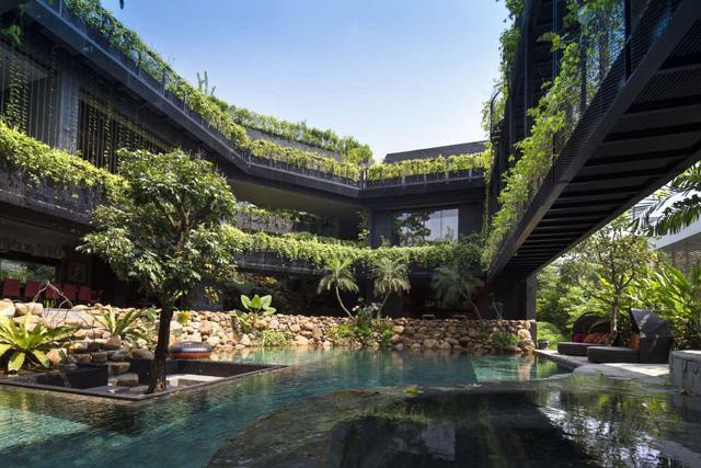 Chiêm ngưỡng biệt thự xanh đáng kinh ngạc ở Singapore - Ảnh 15.