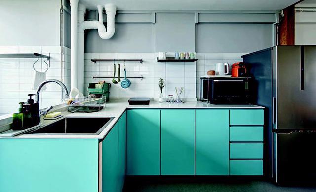 Căn hộ phong cách công nghiệp đa sắc màu - Ảnh 4.