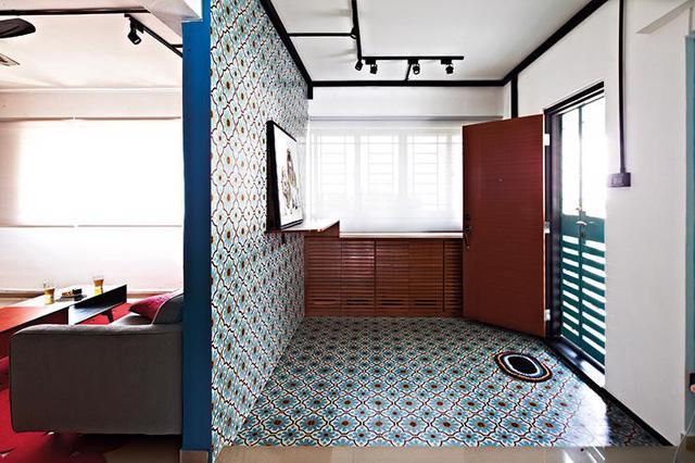 Căn hộ sắc màu với gạch mosaic trong nội thất - Ảnh 1.