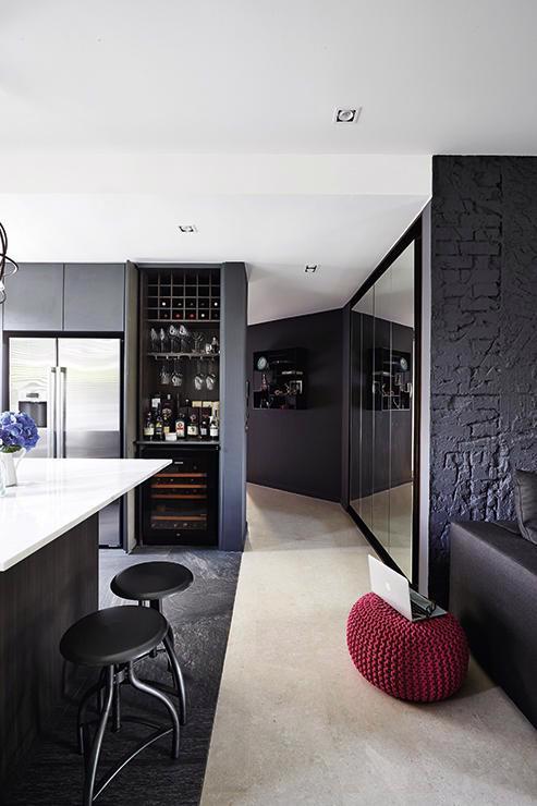 Màu đen cho mảng tường nội thất: có nên không? - Ảnh 3.