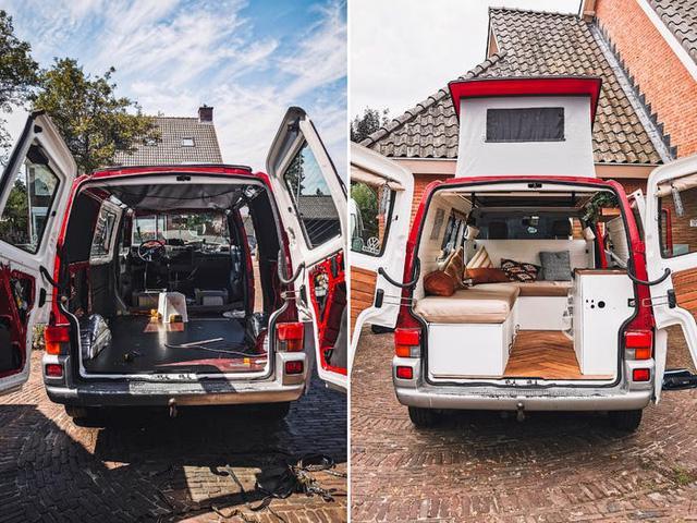 Một gia đình ở Hà Lan đã biến chiếc xe tải của họ thành ngôi nhà nhỏ phóng túng - Ảnh 2.