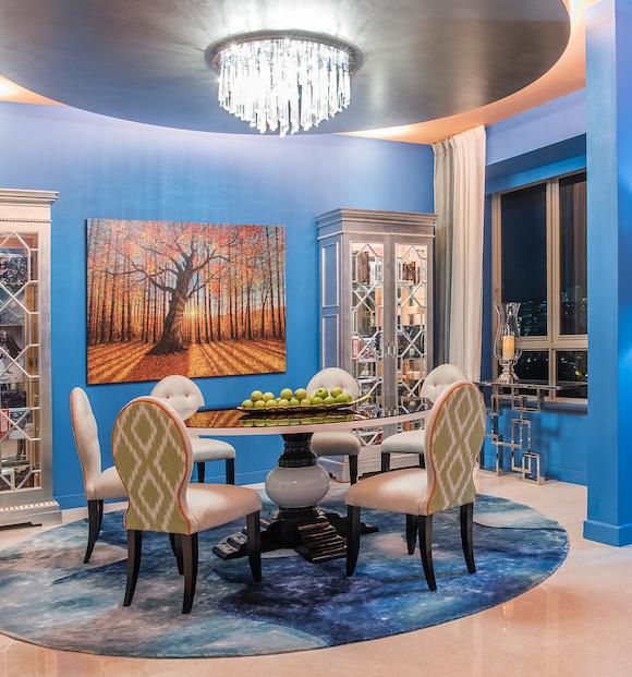 9 ý tưởng nội thất cho những người thích màu xanh lam - Ảnh 6.
