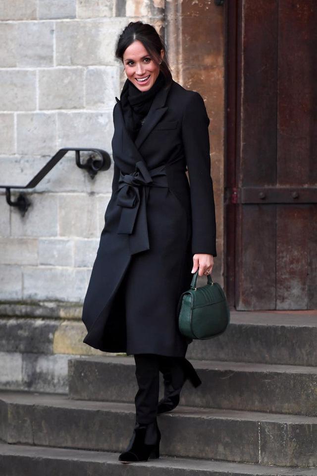 Tham khảo cách diện áo khoác mùa đông của Meghan Markle - Ảnh 4.