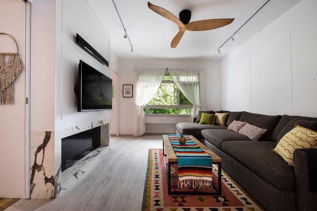 Cải tạo căn hộ cũ thành ngôi nhà bohemian tươi vui - Ảnh 4.