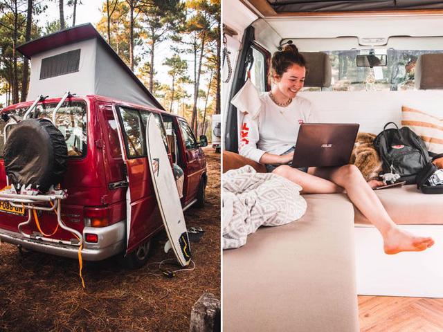 Một gia đình ở Hà Lan đã biến chiếc xe tải của họ thành ngôi nhà nhỏ phóng túng - Ảnh 6.