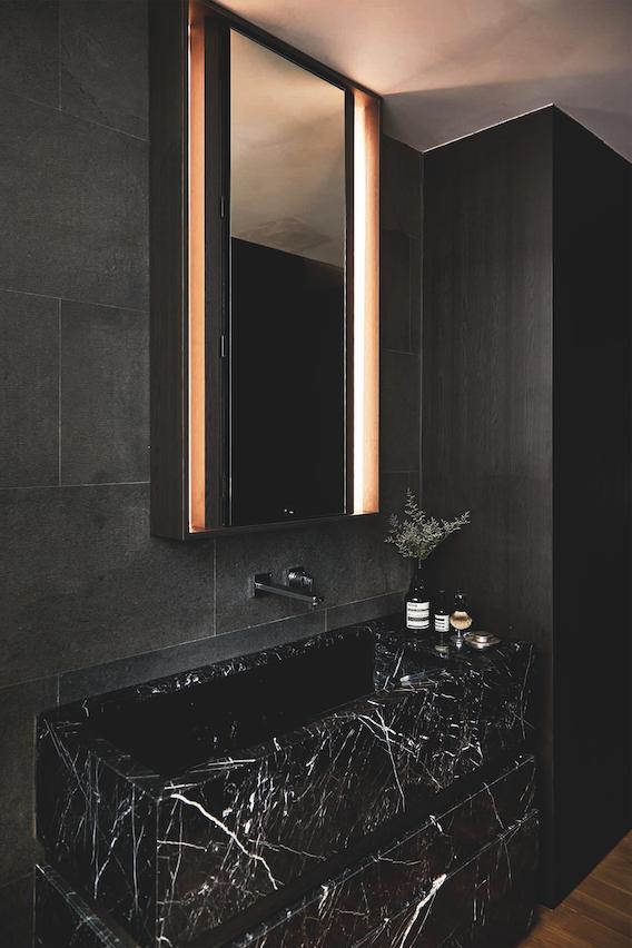 Bí quyết để có một phòng tắm màu đen ấn tượng - Ảnh 3.