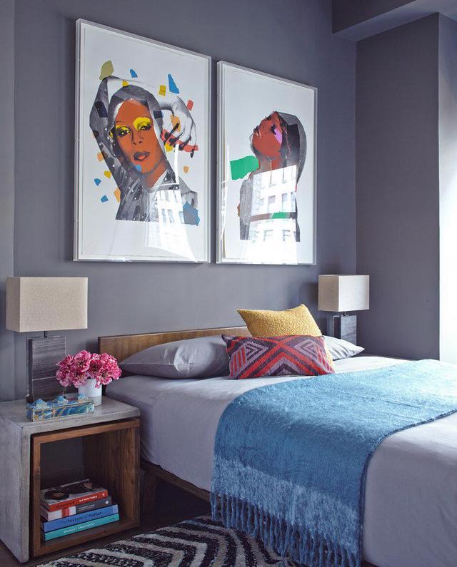 9 ý tưởng treo tranh cho mảng tường đầu giường - Ảnh 6.