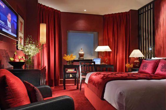 19 thiết kế phòng ngủ với tông đỏ rực rỡ - Ảnh 13.