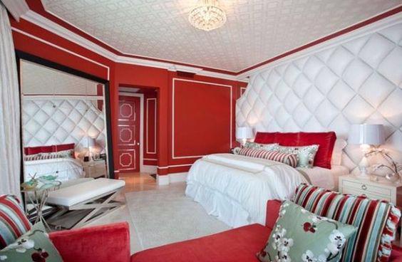 19 thiết kế phòng ngủ với tông đỏ rực rỡ - Ảnh 17.
