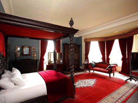 19 thiết kế phòng ngủ với tông đỏ rực rỡ - Ảnh 4.