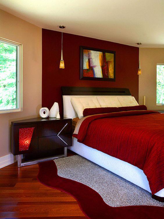 19 thiết kế phòng ngủ với tông đỏ rực rỡ - Ảnh 6.