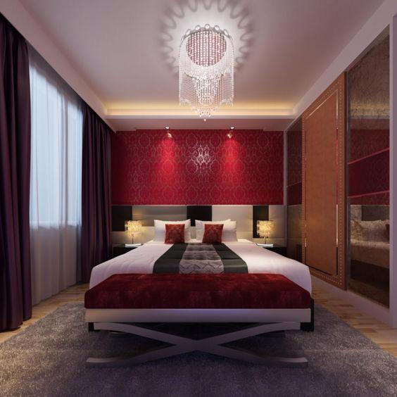 19 thiết kế phòng ngủ với tông đỏ rực rỡ - Ảnh 8.