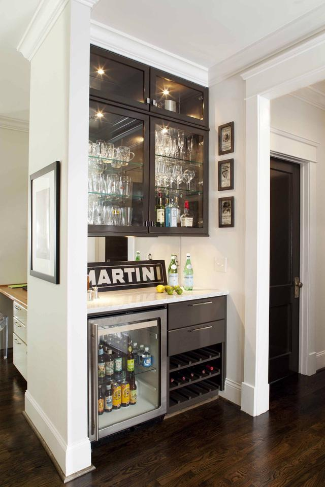 Ý tưởng về quầy bar mini tại gia - Ảnh 2.