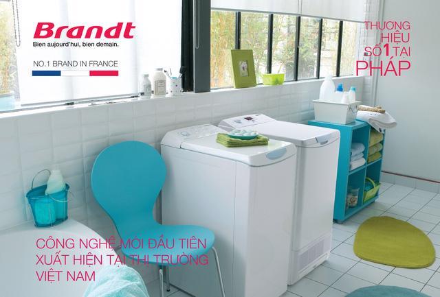 Máy giặt sấy cửa trên – lồng ngang Brandt hoàn toàn mới - Ảnh 1.