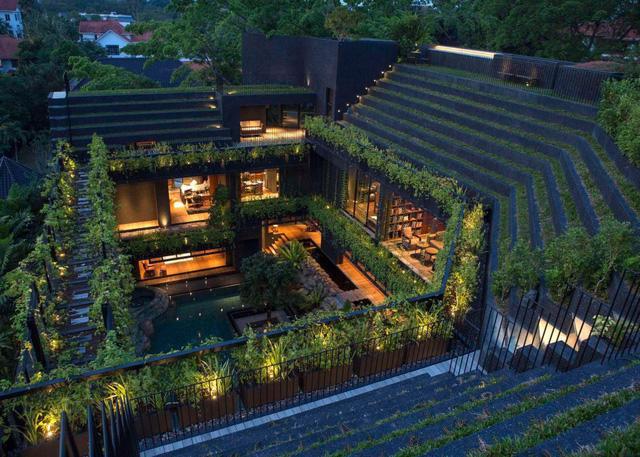 Chiêm ngưỡng biệt thự xanh đáng kinh ngạc ở Singapore - Ảnh 7.