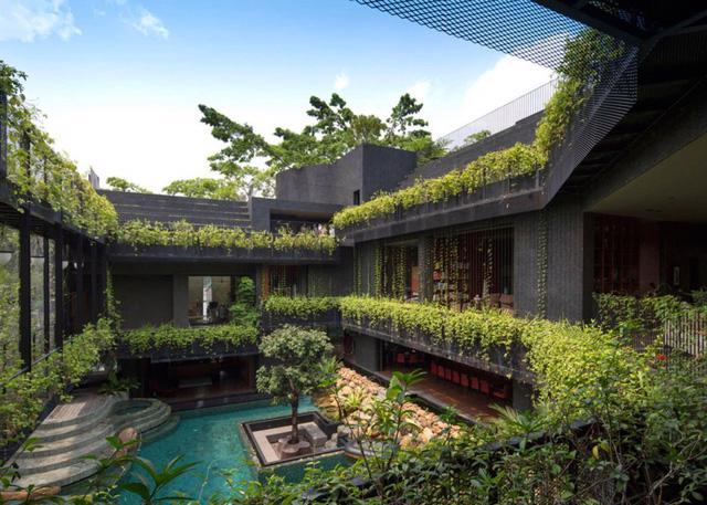 Chiêm ngưỡng biệt thự xanh đáng kinh ngạc ở Singapore - Ảnh 2.