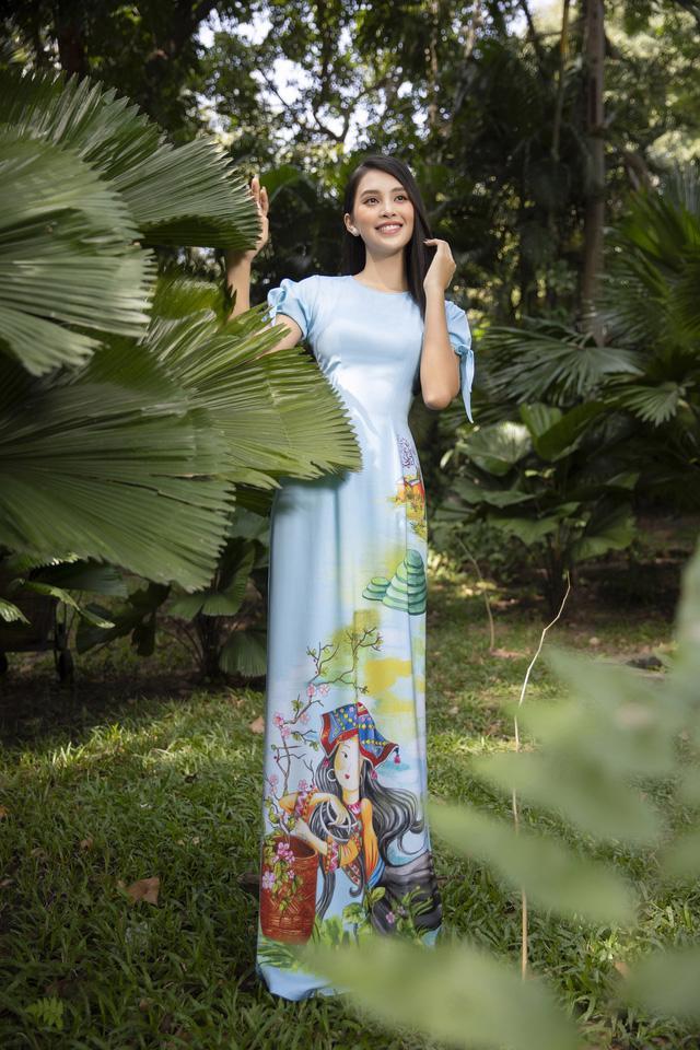 Cùng Hoa hậu Tiểu Vy bắt trend xu hướng áo dài Tết năm nay - Ảnh 3.
