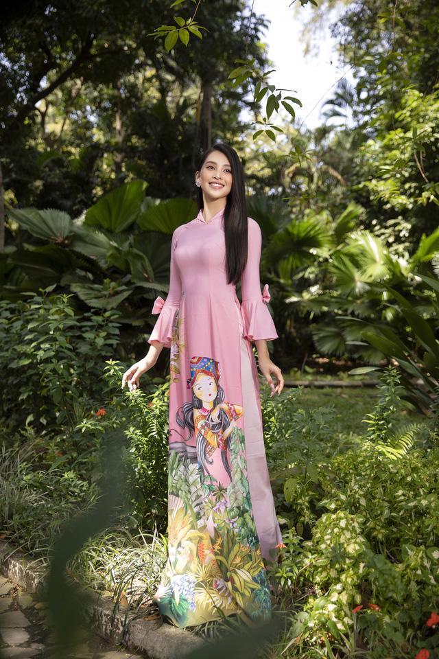 Cùng Hoa hậu Tiểu Vy bắt trend xu hướng áo dài Tết năm nay - Ảnh 7.