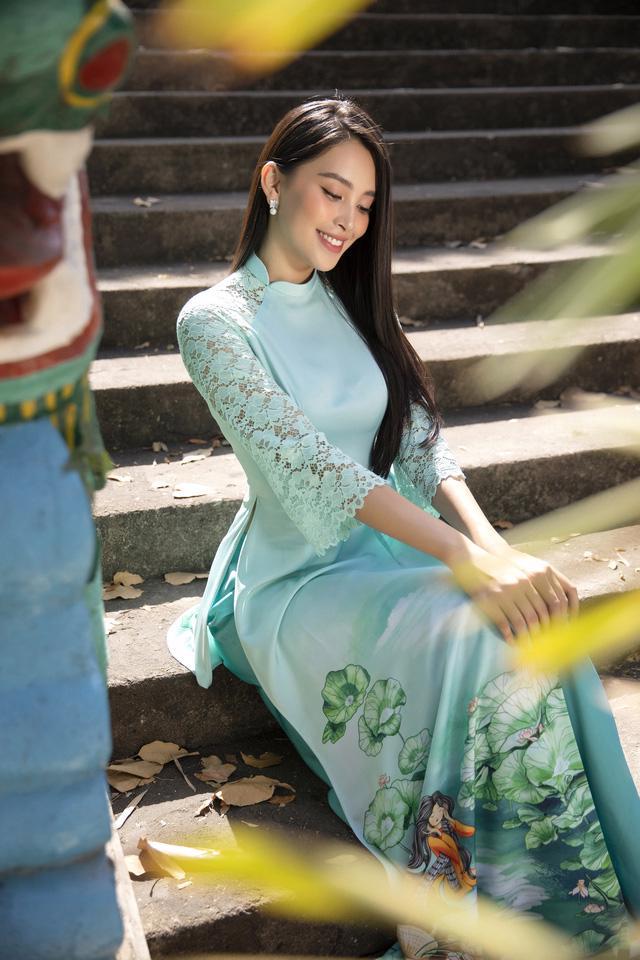 Cùng Hoa hậu Tiểu Vy bắt trend xu hướng áo dài Tết năm nay - Ảnh 5.