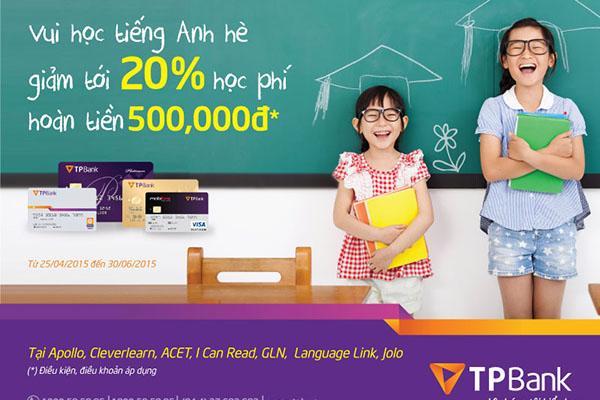 Giảm 20% học phí tiếng Anh tại các trung tâm uy tín cho chủ thẻ TPBank - Ảnh 1