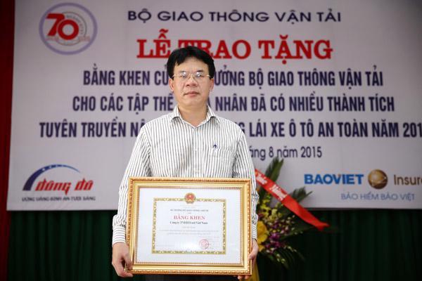 Ford Việt Nam đón nhận bằng khen của Bộ GTVT - Ảnh 1