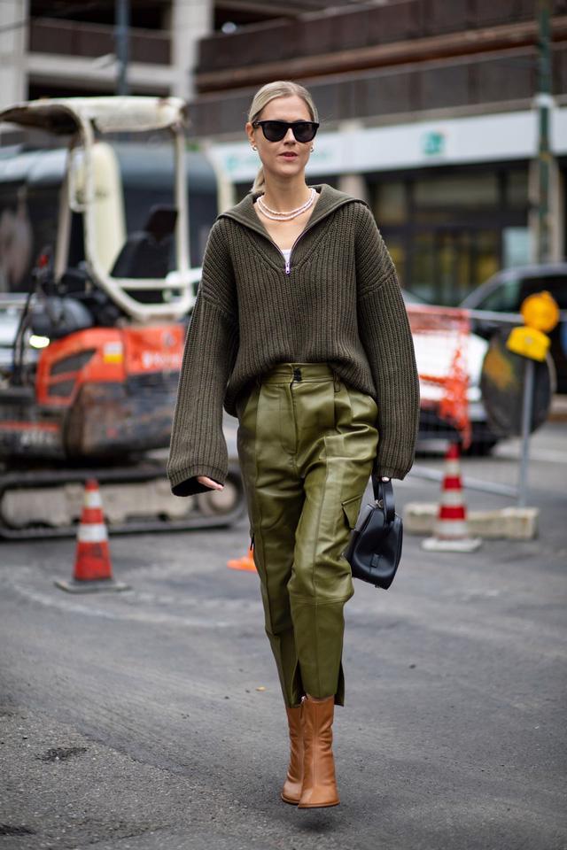 Chất liệu da nhuộm phủ sóng Milan Fashion Week - Ảnh 11.