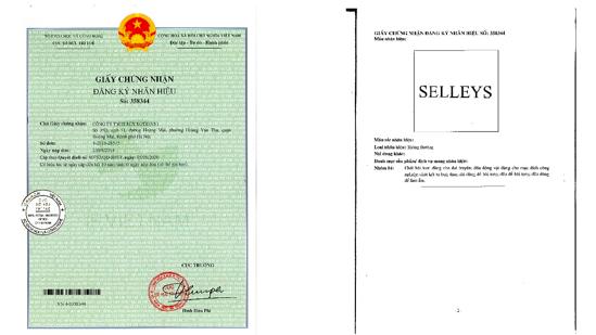 """Tuyên bố quyền sở hữu đối với nhãn hiệu """"SELLEYS"""" - Ảnh 1."""