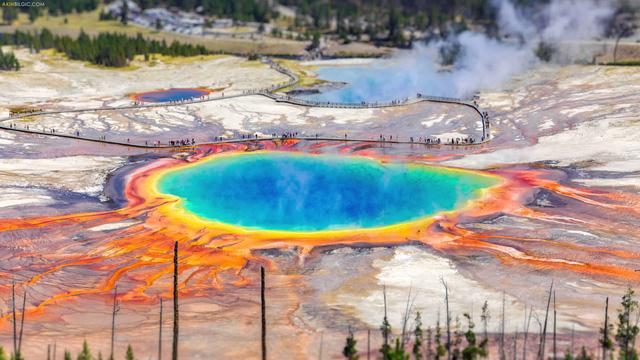 Grand Prismatic Springs: những gam màu tuyệt đẹp trong làn khói - Ảnh 6.